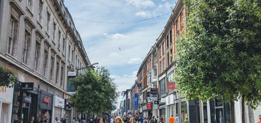 アイルランド、ダブリンの街の様子